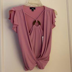NWT BCX rose halter blouse